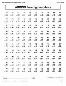 maths addition worksheets for grade 2 9536 addition math worksheets adding two digit numbers 6 different styles to choose from math
