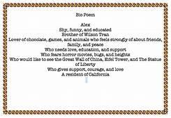 Auto Bio Poem Example