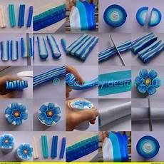 Fimo Anleitung Für Anfänger - fimo lehrg 228 nge eine blaue blume fimo polymer