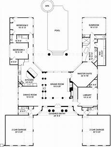 u shaped house plans single level pingree house plan first floor plan pool house plans u