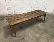 ancienne table de ferme bois massif en 233 cm