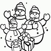 Snowman Family Coloring Pages >> Disney