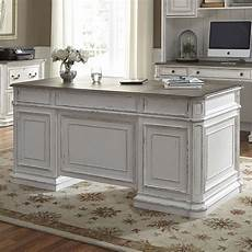antique white home office furniture magnolia manor antique white jr executive home office set