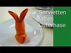Servietten Falten Ostern Osterhase Tischdeko Ostern