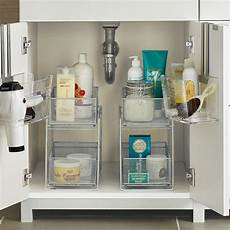 bathroom cabinet organizer silver 2 drawer mesh organizer the container store