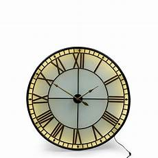 large black gold westminster wall clock back lit