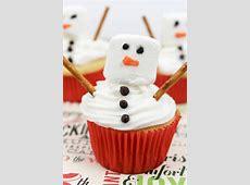 christmas snowman cupcakes_image