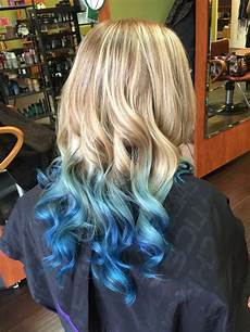 Colors That Go With Hair beautiful blond to blue ombre hair using pravana