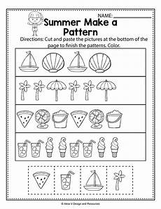 math worksheets on patterns for kindergarten 339 make a pattern summer math worksheets and activities for preschool kindergarten and 1st grade