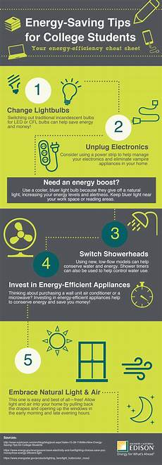 infographic energy saving tips for college students