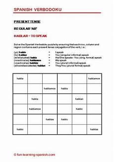 conjugation worksheets 18230 verbodoku verb sudoku puzzles