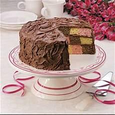 checkerboard birthday cake recipe taste of home