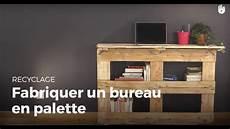 faire un bureau en bois fabriquer un bureau en palette recycler