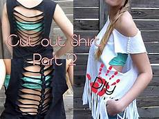 diy cut out shirts part 2 aus alt mach neu