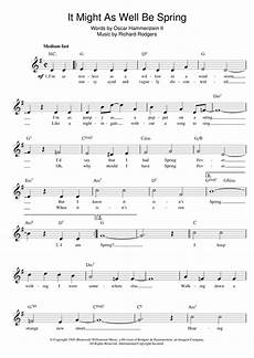 it might as well be spring sheet music free it might as well be spring from state fair chords by rodgers hammerstein melody line