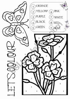 color by number worksheets butterfly 16083 colour by number butterfly flowers esl worksheet by gustavo20