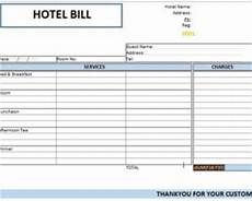 creating hotel bill format in ms word excel template124