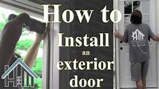 how to install an exterior door and jamb replace easy the home mender youtube