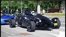 ariel atom v8 2x ariel atom 3 v8 supercharged fast launch and sounds