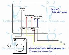 digital multi voltmeter ammeter hz wiring with diagram electrical online 4u