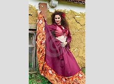 Portrait Of Beautiful Gypsy Woman Royalty Free Stock Photo