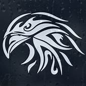 Tribal Eagle Head Car Or Laptop Decal Vinyl Sticker For