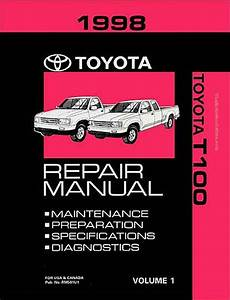 online car repair manuals free 1998 toyota t100 engine control 1998 toyota t100 oem repair manual rm581u