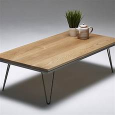 solid hardwood coffee table industrial hairpin by hairpins notonthehighstreet com