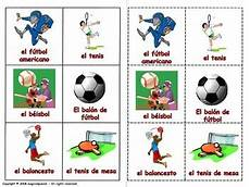 sport en espagnol sports in lottery board by magicalspanish