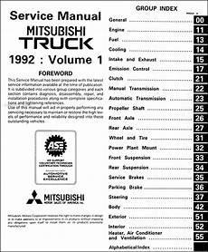car repair manuals online pdf 1992 mitsubishi truck engine control 1992 mitsubishi truck repair shop manual set original
