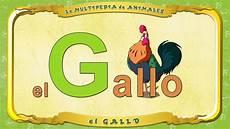 La Multipedia De Animales Letra G El Gallo