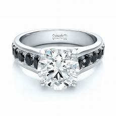 wedding bands black and white diamonds custom black and white diamond engagement ring 100606 seattle bellevue joseph jewelry