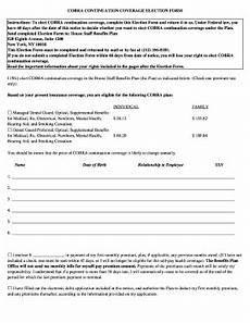 kaiser permanente cobra election form fill online printable fillable blank pdffiller