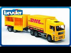 bruder toys tga dhl truck with trailer 02784
