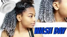 natural hair wash day routine start to finish journeytowaistlength youtube