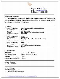 resume format for freshers of electronics and comunication over 10000 cv and resume sles with free download electronics and communication engineering