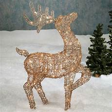 Reindeer Decorations Outdoor by Lighted Reindeer Yard Decorations Bloggerluv