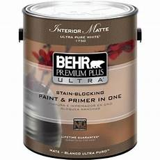 behr premium plus ultra 1 gal ultra pure white matte interior paint and primer in one 175001