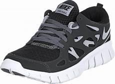 nike free run 2 gs shoes black grey