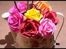Comment Faire Des Roses En Papier Facile Diy Paper Roses