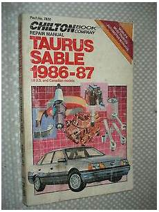 service and repair manuals 1987 ford taurus electronic toll collection 1986 1987 ford taurus mercury sable shop manual service book chiltons ebay