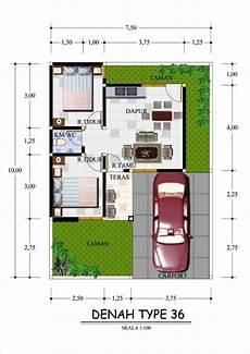 Denah Rumah Sederhana Tipe 36 Minimalis Denah Dengan