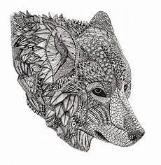 Malvorlagen Wolf Of Wall Zentangle Wolf Stammes Wolf Malvorlagen Tiere Und