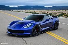 Corvette C7 Z06 - admiral blue chevrolet c7 z06 corvette forgestar cf5v wheels
