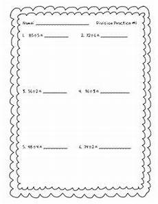 long division practice packet with 2 digit divisors teaching math long division division