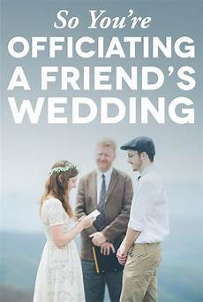 Story Friend Officiating Wedding Tips