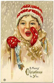vintage christmas graphic in snow the graphics