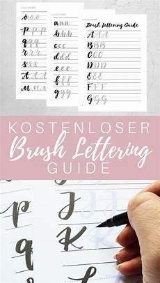Kostenloser Brush Lettering Guide Handschrift