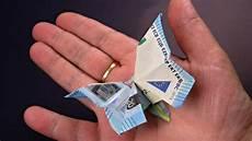 geld falten geld falten schmetterling aus geldscheine basteln deko ideen mit flora shop