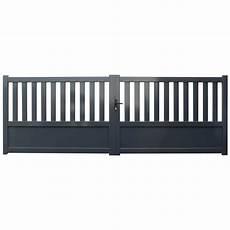 portail coulissant leroy merlin 5m portail battant aluminium 3 5m gris anthracite l 350 x h